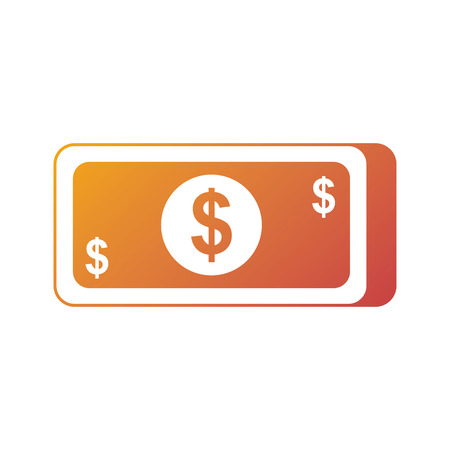 money banknote dollar cash currency icon vector illustration