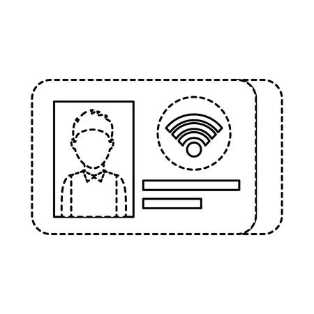 id card identity photo personal document vector illustration Illustration