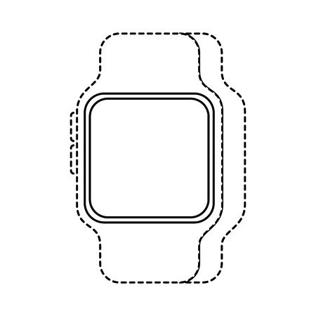 smart watch device technology wireless vector illustration Banco de Imagens - 90096856