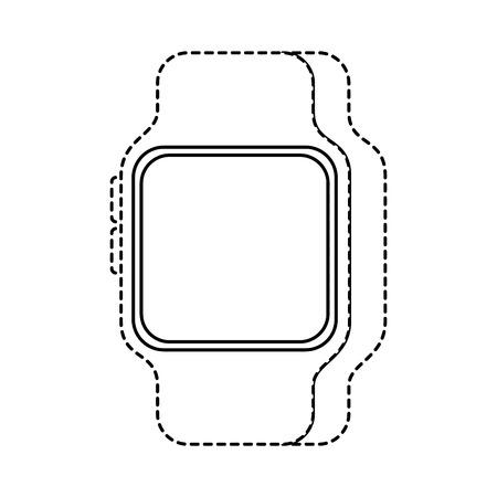 Smart Watch Gerät Technologie Wireless Vektor-Illustration Standard-Bild - 90096856