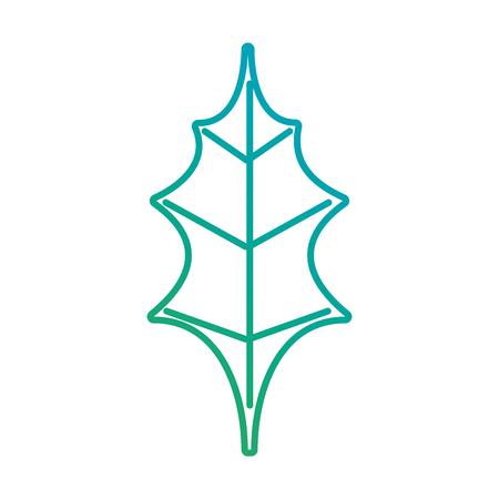 blad decoratie van Kerstmis aard element pictogram vectorillustratie