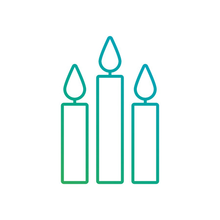 three burning candles christmas decoration vector illustration Illusztráció