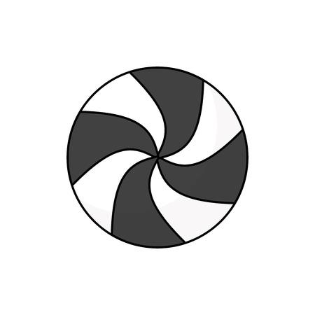 rounded candy mint sweet christmas icon vector illustration Ilustração