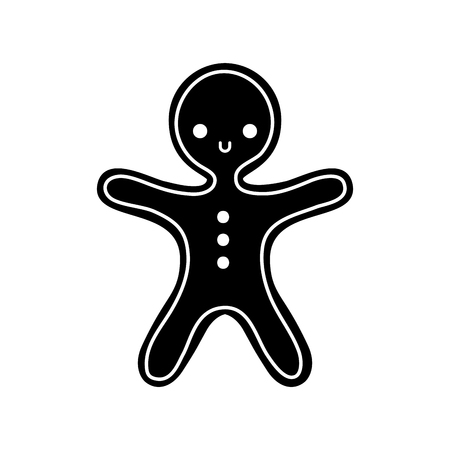 メリー クリスマスのジンジャーブレッド クッキーの甘い食べ物ベクトル イラスト
