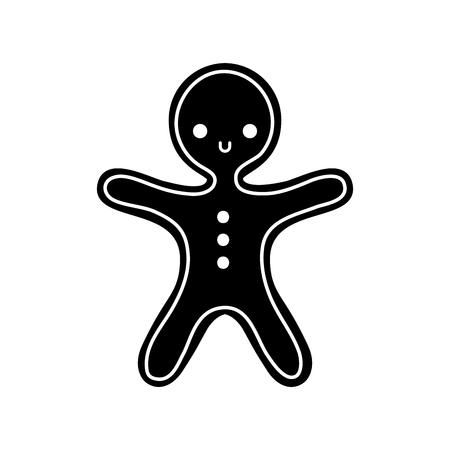 vrolijk kerst peperkoek cookie zoet voedsel vectorillustratie Stock Illustratie
