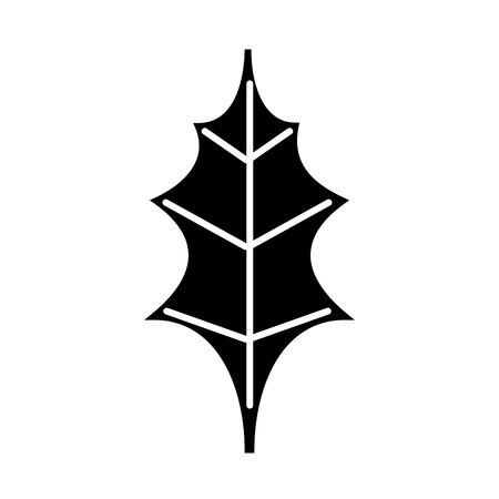 leaf christmas decoration nature element icon vector illustration