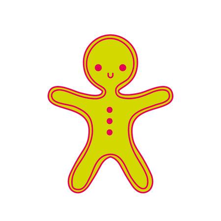 Lebkuchenplätzchen der frohen Weihnachten süße Nahrungsmittelvektorabbildung Standard-Bild - 90110973