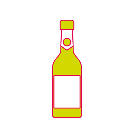 champagne bottle drink alcohol celebration vector illustration Ilustração