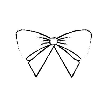 クリスマス弓装飾飾り繊細なベクトル イラスト