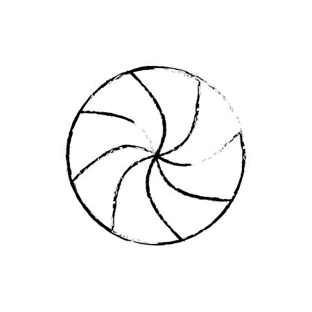 rounded candy mint sweet christmas icon vector illustration Illusztráció
