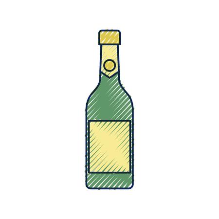 champagne fles drinken alcohol viering vectorillustratie