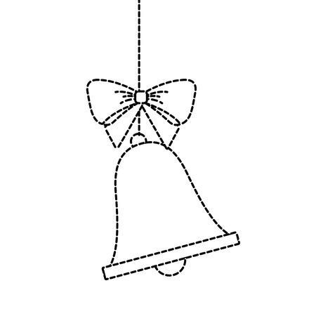 merry christmas bell bow hanging decoration vector illustration 版權商用圖片 - 90133547