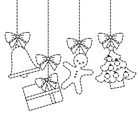 Frohe Weihnachten Baum Geschenk Lebkuchenhaus Dekoration hängen traditionelle Standard-Bild - 90133550