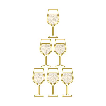 champagneglazen piramide viering evenement vectorillustratie