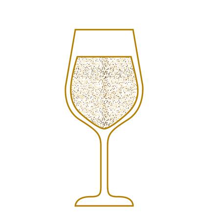 champagne glas drinken viering kerst vectorillustratie