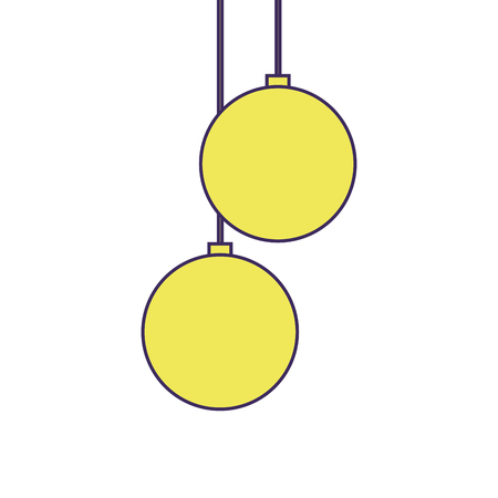christmas balls hanging decoration elegance vector illustration Stock Vector - 90131969