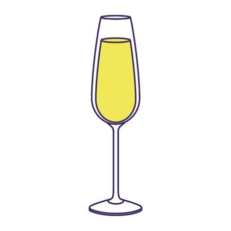 Il bicchiere di champagne bevanda bevanda liquido icona illustrazione vettoriale Archivio Fotografico - 90131995
