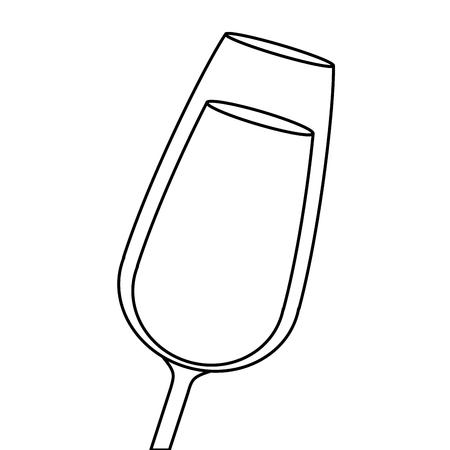 Il bicchiere di champagne bevanda bevanda liquido icona illustrazione vettoriale Archivio Fotografico - 90132039