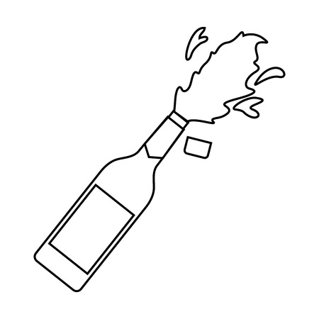 Champagner-Flasche Explosion Feier Feier Vektor-Illustration Standard-Bild - 90132045