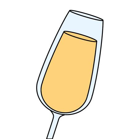 champagne glass drink beverage celebration vector illustration