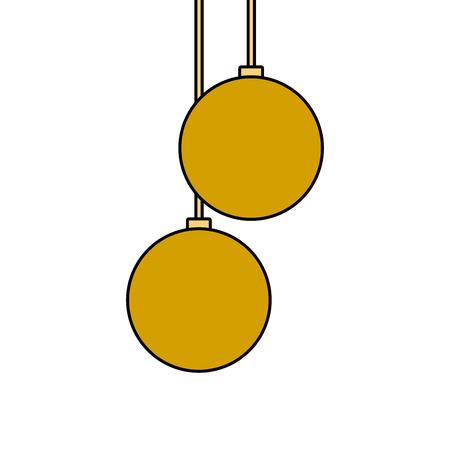 kerstballen opknoping decoratie elegantie vector illustratie