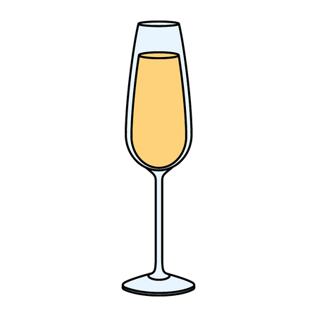 champagne glass drink beverage celebration vector illustration