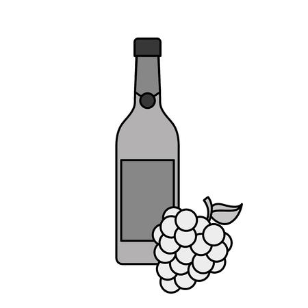 와인 병 및 포도 술 축 하 벡터 일러스트 레이 션의 병