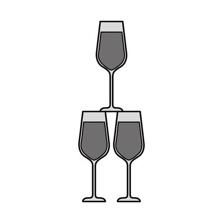 champagne glasses pyramid drink event celebration vector illustration 向量圖像