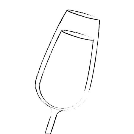 champagne glas drinken drank viering vectorillustratie