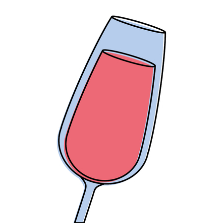 glass of wine or champagne drink liquor celebration icon vector illustration