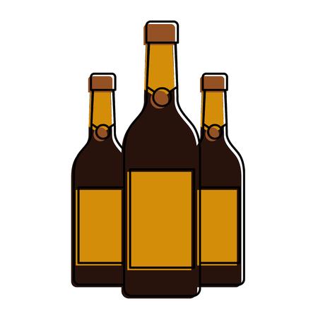 drie champagneflessen drinken drank evenement vectorillustratie