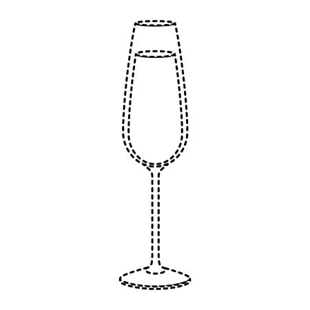 glass of wine or champagne drink liquor celebration icon vector illustration