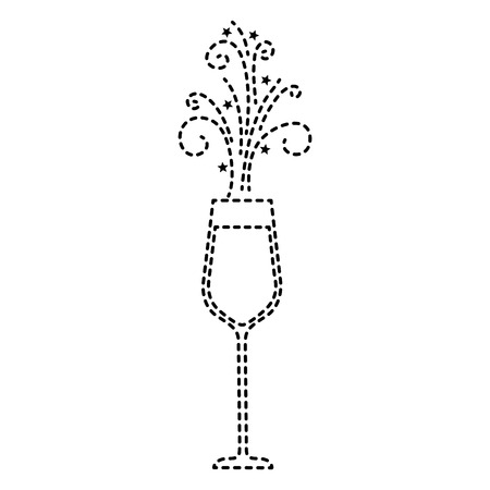 the glass of champagne sparkling drink icon vector illustration