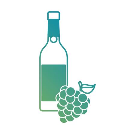ワインとブドウ アルコールお祝いベクトル図の束