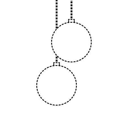 christmas balls hanging decoration elegance vector illustration Stock Vector - 90132953