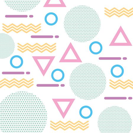 기하학적 인 도형의 질감 색 인물 패턴 추상적 인 벡터 일러스트 레이 션 일러스트