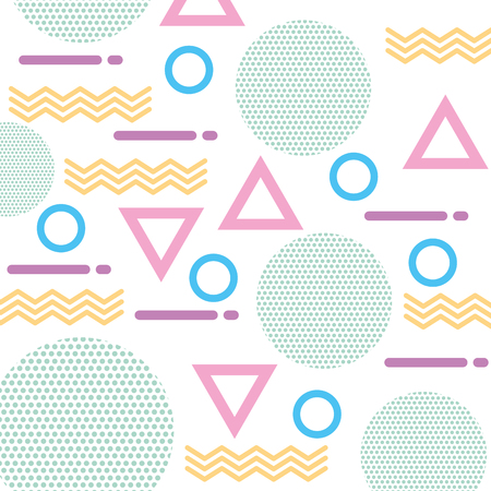 texture of geometric shapes colored figures pattern abstract vector illustration