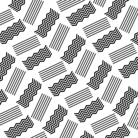 ジグザグとシームレスな抽象的なテクスチャ ライン装飾ベクトル図