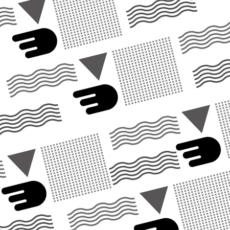 seamless abstract texture with zig zag lines decoration vector illustration