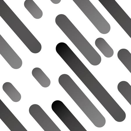 ウェーブ ストライプ抽象的なデザインのベクトル図とシームレスなパターン  イラスト・ベクター素材