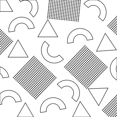 삼각형 평방 라인 장식 벡터 일러스트와 함께 완벽 한 추상 텍스처 일러스트