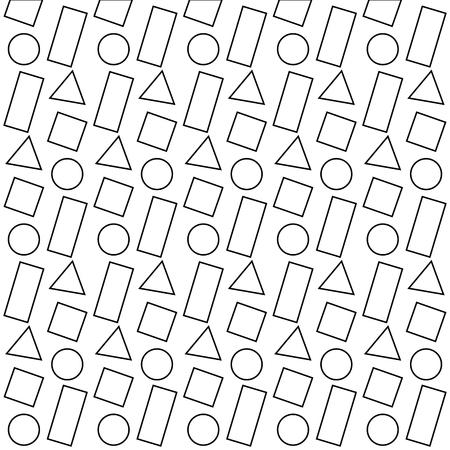 幾何学的形状のテクスチャフィギュアパターン抽象ベクトルイラスト
