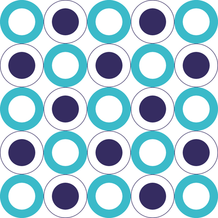 geometric background circles seamless pattern texture vector illustration Ilustração