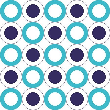 geometrische achtergrond cirkels naadloze patroon textuur vector illustratie