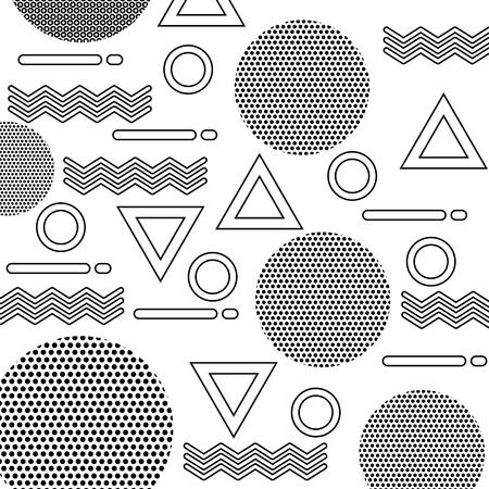 textuur van geometrische vormen cijfers patroon abstract vector illustratie