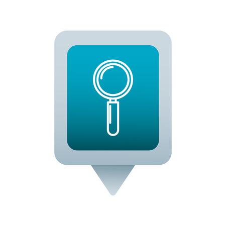 Recherche médias sociaux carré carré web illustration vectorielle Banque d'images - 90164425