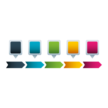 timeline infographics process with steps options arrow template vector illustration