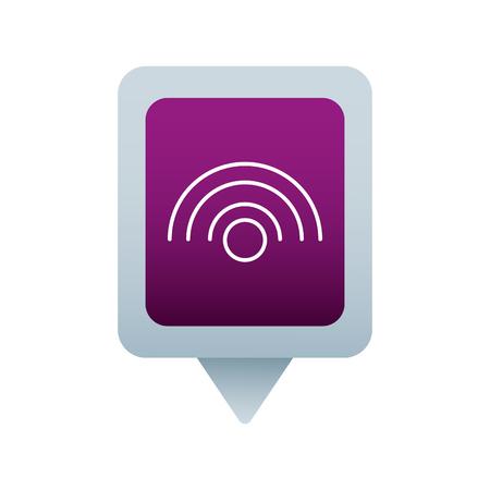 wifi internet social media square pointer web vector illustration