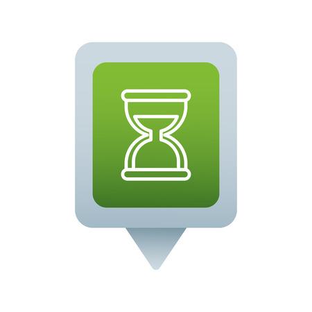 kantoor uur glas sociale media vierkante aanwijzer web vectorillustratie