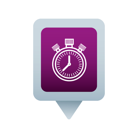 chronometer social media square pointer web vector illustration Çizim